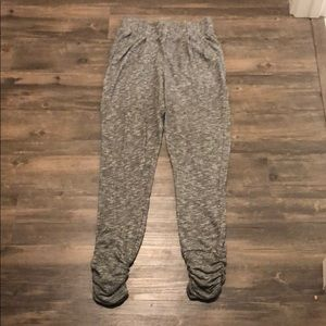 H&M marbled jogger sweats w/ ruched bottoms sz XS